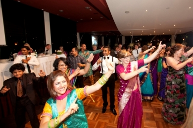 Bhangra30 Guests smile during dancing