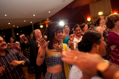 Bhangra37 Indian wedding guests dance