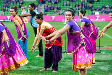 bollywood at sporting event