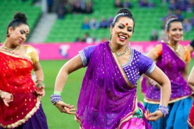 bollywood at sporting event melbourne