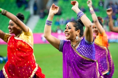 melbourne bollywood at sporting event