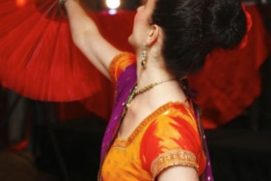 Corporate Bollywood dancer in Melbournes Langham Hotel