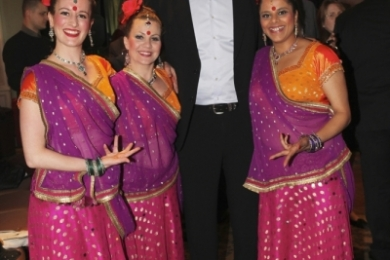 Corporate Bollywood dancing with Glenn McGrath