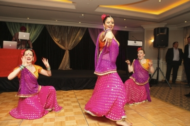 Corporate Cheeky fun in a Bollywood show