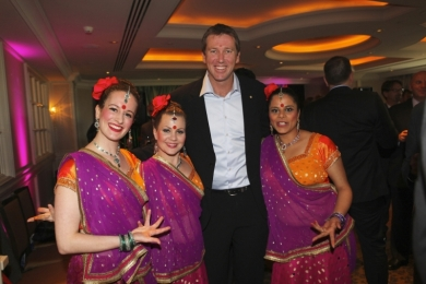 Corporate Ignite Bollywood Dancers with Glenn McGrath