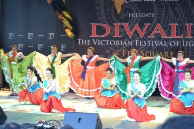 Diw2 Atlacatl and Ignite Bollywood at Fed Sq