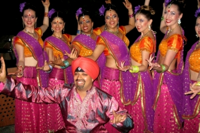 Diw2 Ignite Bollywood dancers pose for the crowd at Diwali