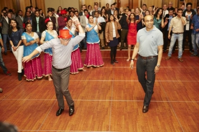 Bollywood dance off between NAB and Oracle leaders