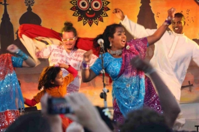 St Kilda Festival Bollywood madness on stage
