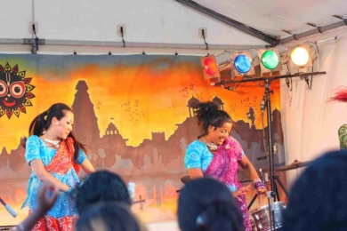 St Kilda Festival Bollywood on stage