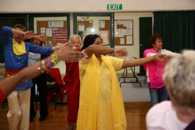 Seniors over 60 bollywood dance at festival