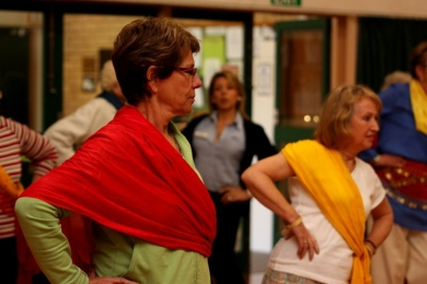 Seniors work their hips at bollywood dance workshop