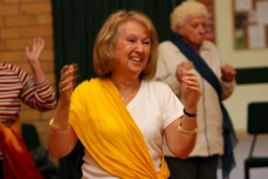 Vic Seniors bollywood participant