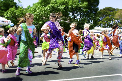 Bollywood at primary school fete