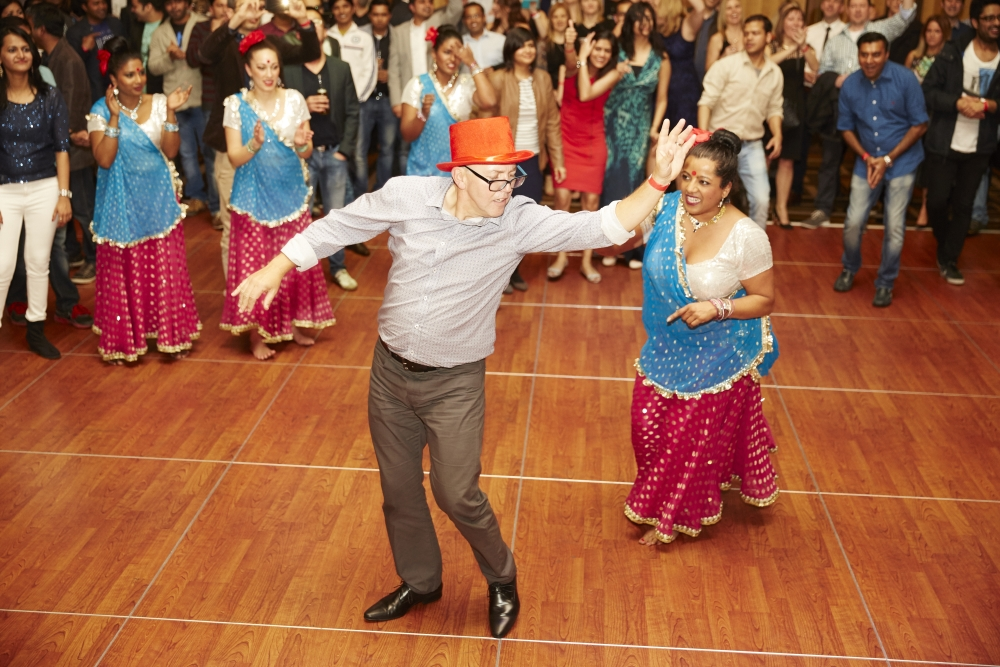 indian bollywood corporate christmas party